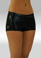 Legging short black wetlook W758zw